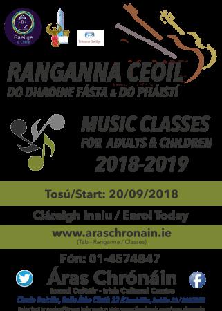Ceol do Pháistí - Childrens Music - 2018-2019