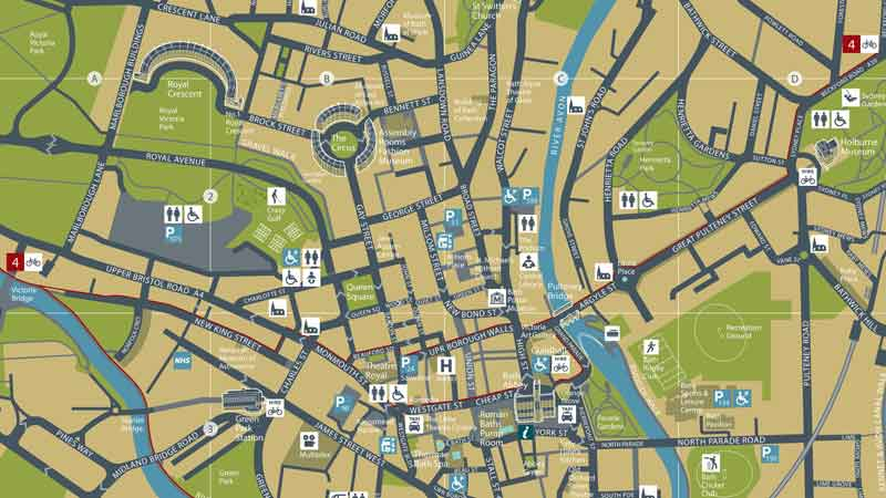 Map Of Bath City Centre Buy Official Map of Bath online   Visit Bath Map Of Bath City Centre