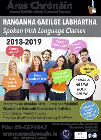 Ranganna Gaeilge Labhartha - Spoken Irish Classes 2018-2019