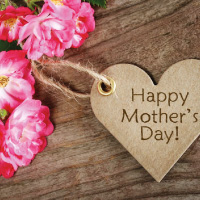 Mother's Day Flowers and Hearts