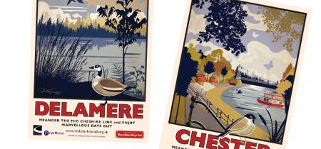 Mid Cheshire Line Railway Postcards