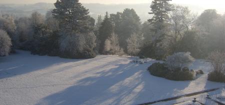 Winter at Sandon Hall