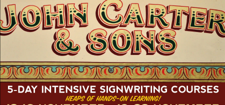 2018 - 5 Day Signwriting Course 10-14 December