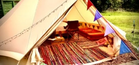 2 nights - Furnished Bell Tent (ensuite facilities) - sleeps up to 6 - 2021