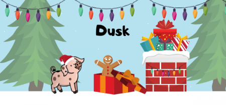 Dusk - Wiglet's Christmas Adventure & Father Christmas Visit