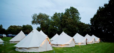 2 nights - Furnished Bell Tent (shared facilities) - sleeps up to 6 - 2021