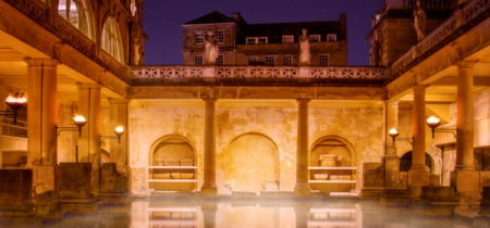 Roman Baths Torchlit Visit And Dinner Package