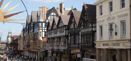 Historic Chester  with River Cruise Open Top Bus and Walking Tour