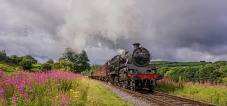East Lancashire Railway Steam Train Trip and Bury Market