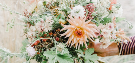How to create a hand tied bouquet