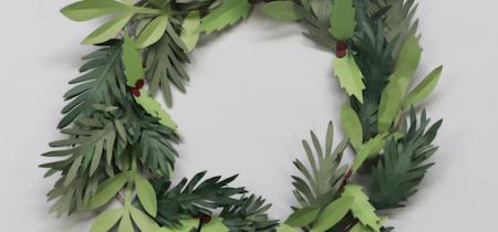 Paper Wreath Making with Lora Avedian, Saturday 7 December, 2-5pm
