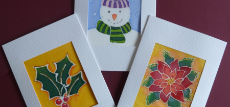 Cocktails & Crafts (Dec) - Batik Silk Seasonal Cards
