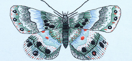 Out the Blue Butterfly with The Royal School of Needlework