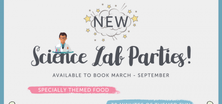 Science themed party (peak, weekends and school hols) March - Sept