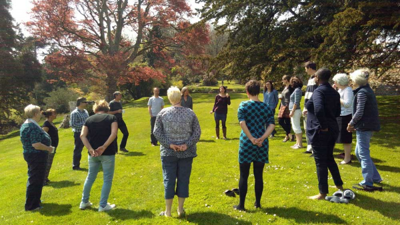 Sharpham House: 3 nights Mindfulness through Singing retreat (with Roz Walker & Lynne Roberts)