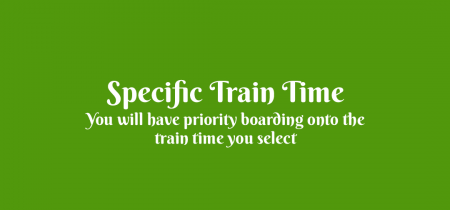Easter Special 2019 - Specific Train Time