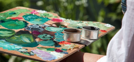 Painting in the garden - summer | 19 July 2021