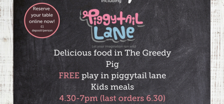 Friday Tea Time Special in the Greedy Pig & Piggy Tail Lane