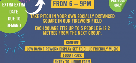 Socially Distanced Low Bang Firework Event (extra EXTRA date!)