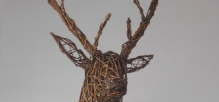 Willow Weaving: Stags Head Sculpture