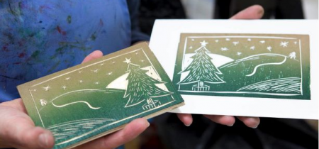 Woodcut Christmas Cards 19 November 2019