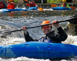 Shoot the rapids in a Kayak