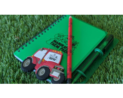 Notebook, Magnet & Pencil Image
