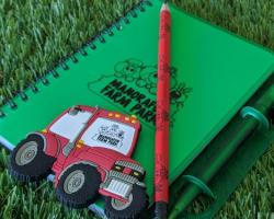 Notebook, Magnet & Pencil