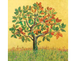 Oak with Red Squirrels greetings card