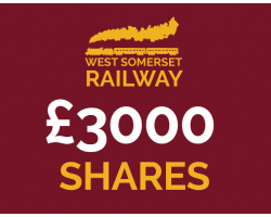 West Somerset Railway £3000 Shares