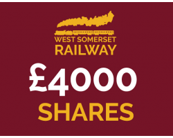 West Somerset Railway £4000 Shares