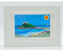 St Michael's Mount Top Town View Framed