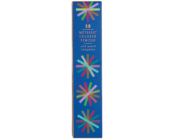12 Metallic colored pencils