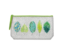 Designers Guild Tulsi Leaves Embroidered Pouch Image