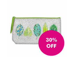 Designers Guild Tulsi Leaves Embroidered Pouch