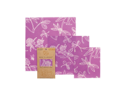 Beeswax wrap clover - set of 3 sizes