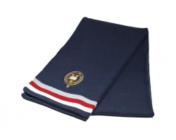 Navy Oxford University Classic Stripped Scarf