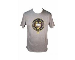 Men's Grey Oxford University  T Shirt--L