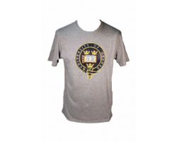 Men's Grey Oxford University  T Shirt--XL