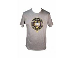 Men's Grey Oxford University  T Shirt--XS
