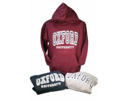 Burgundy Oxford University Sweatshirt-XL