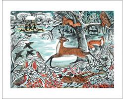Winter Woodland greetings card