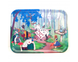 Alice in Wonderland Birch Wood Tray