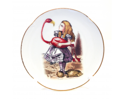 Alice in Wonderland Fine Porcelain Souvenir Plate - Flamingo