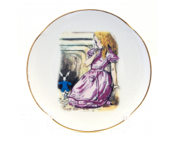 Alice in Wonderland Fine Porcelain Souvenir Plate - Rabbit Hole