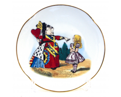 Alice in Wonderland Fine Porcelain Souvenir Plate - Queen of Hearts
