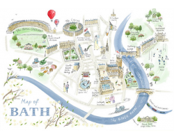 ALICE TAIT - MAP OF BATH