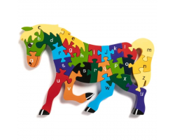 Alphabet Jigsaw Puzzle - Horse
