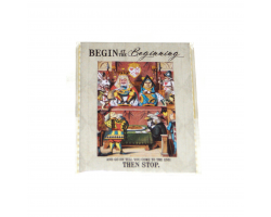 "Alice in Wonderland ""Begin at the Beginning"" Magnet"