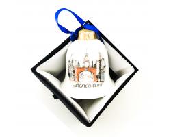 Eastgate Chester Ceramic Bell Christmas Ornament